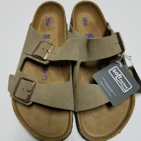3f44894d34b3 New Birkenstock Arizona Taupe Suede Sandals 42